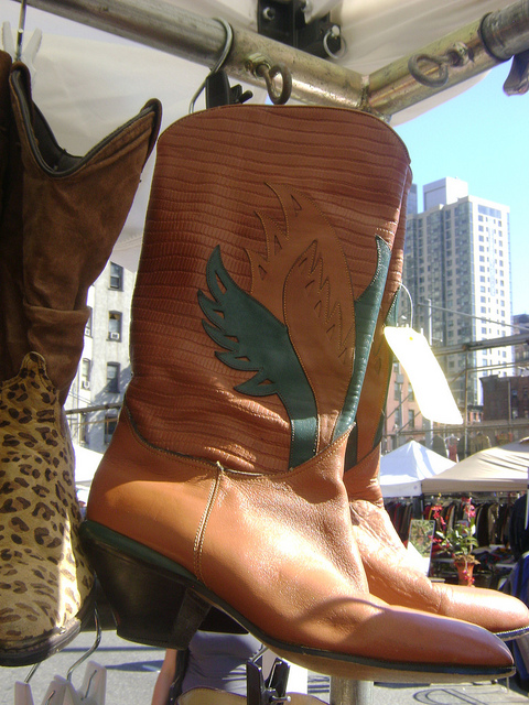 Cowboy boots add a little extra flair from Hell's Kitchen Flea Market