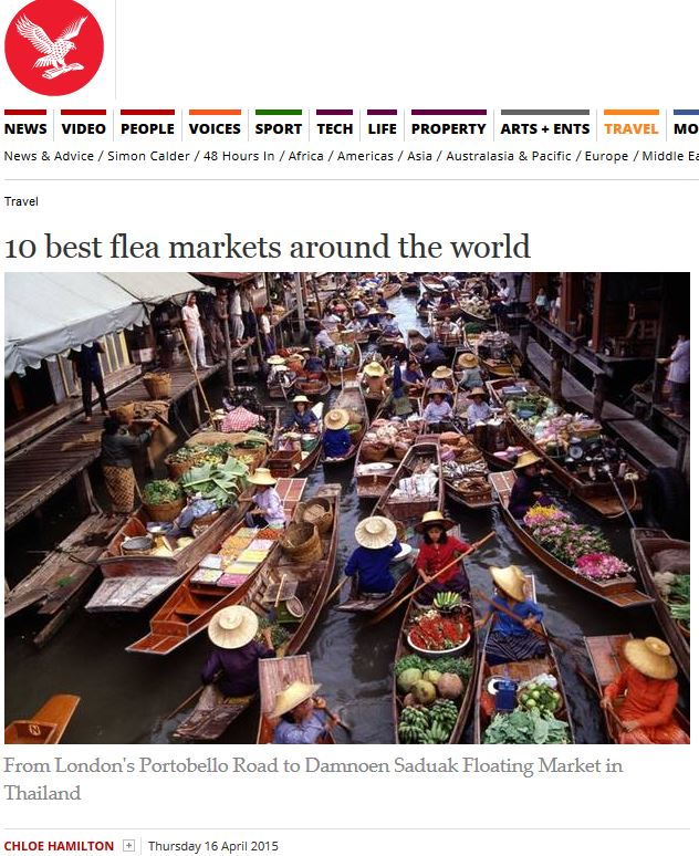 The Independent: 10 Best Flea Markets Around the World