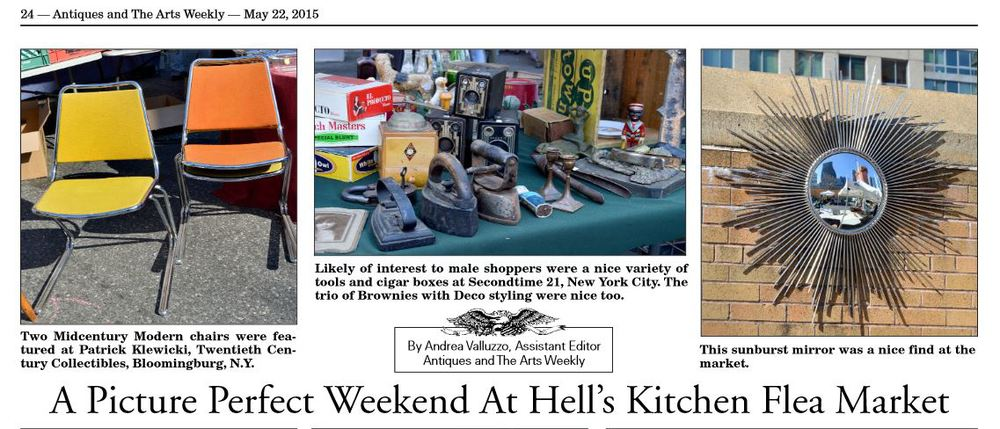 Antiques and The Arts Weekly: A Picture Perfect Weekend at Hell's Kitchen Flea Market