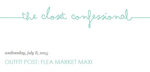 The Closet Confessional: Outfit Post: Flea Market Maxi