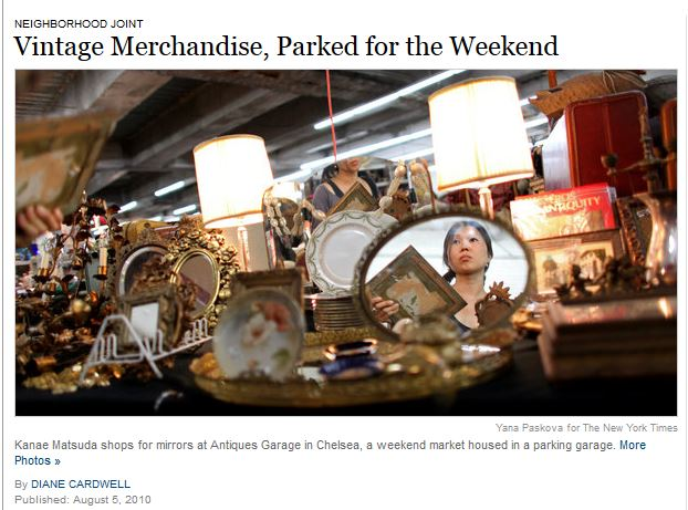New York Times: Vintage Merchandise, Parked for the Weekend    Published: August 5, 2010