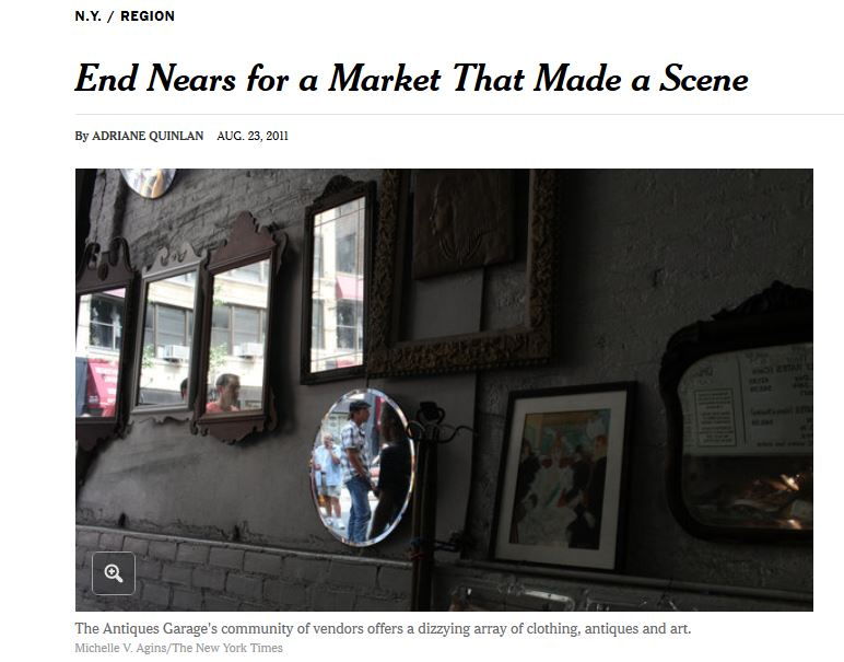 New York Times:  End Nears for a Markets That Made a Scene