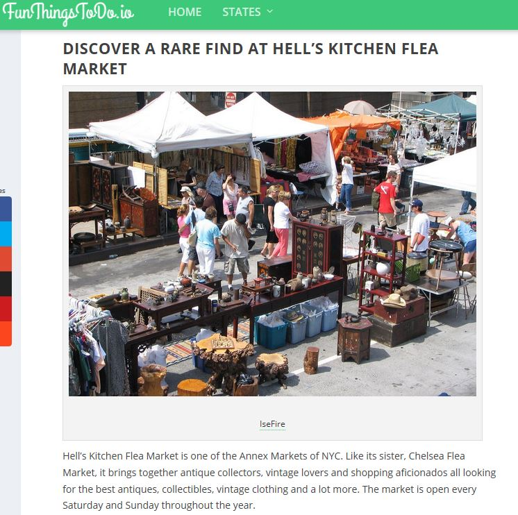Fun Things to Do: 10 Best Flea Markets in New York