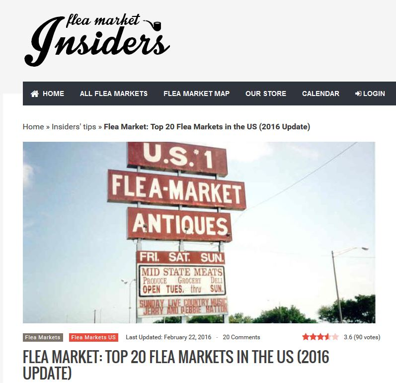 Flea Market Insiders: Top 20 Flea Markets in the U.S.