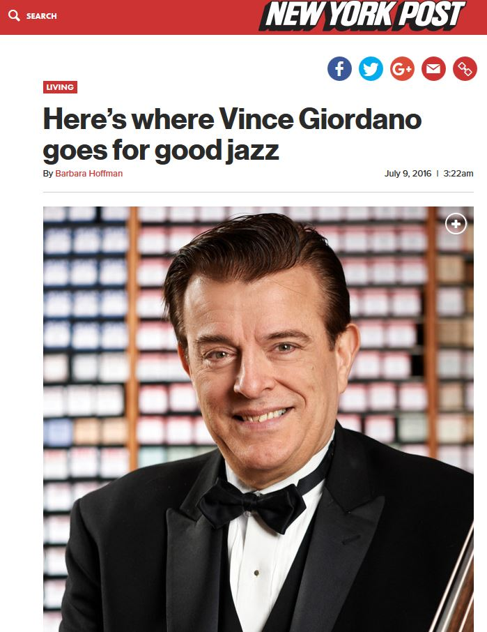 New York Post: Here's Where Vince Giordano Goes for Good Jazz ( feat. Hell's Kitchen Flea Market )