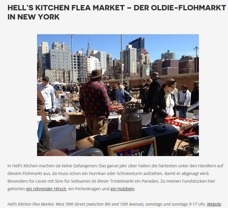 MOMENT: NEW YORK - Hell's Kitchen Flea Market - Der Oldie - Flohmarkt in New York