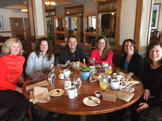 NFS teachers meet at the Shore Lodge in January, 2015. Missing Debra!