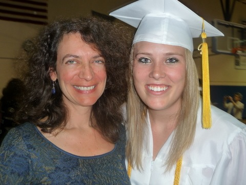 Kelsey Mack at MDHS graduation with Marie