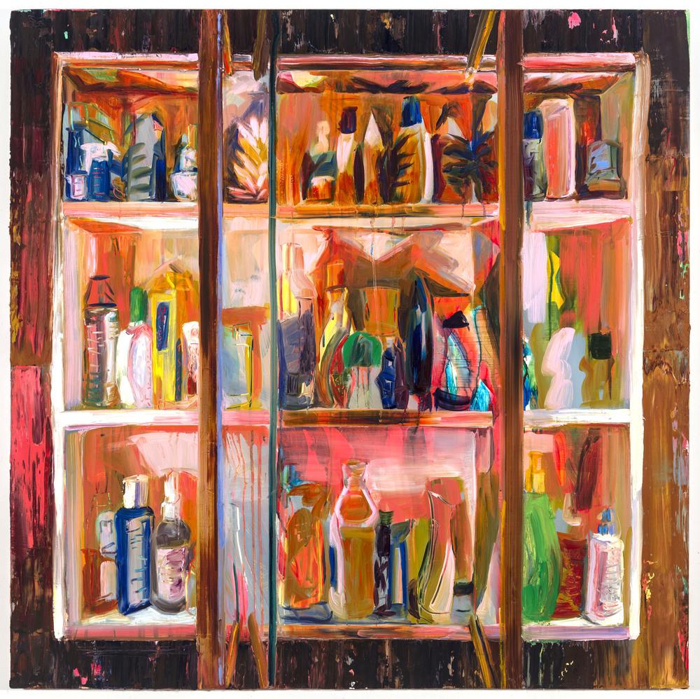 "Chapstick, 40""x40"", oil on panel, 2014"