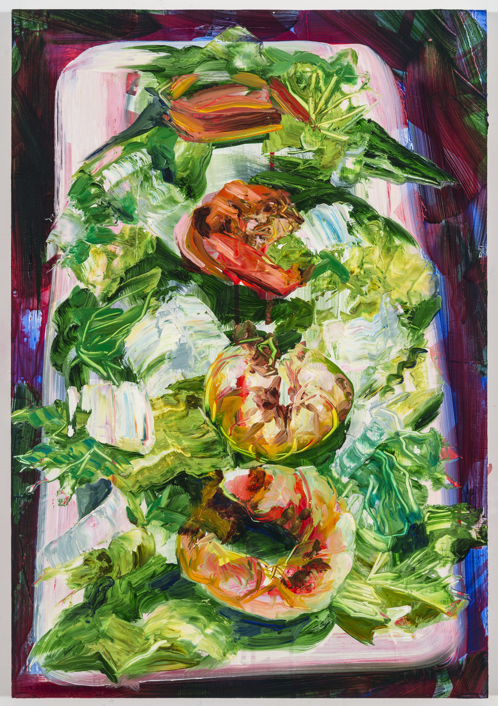 "Shrimp Salad, 20""x16"", oil on panel, 2014"