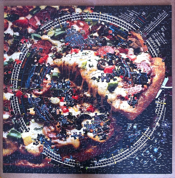 Milky Way, Puzzle Collage
