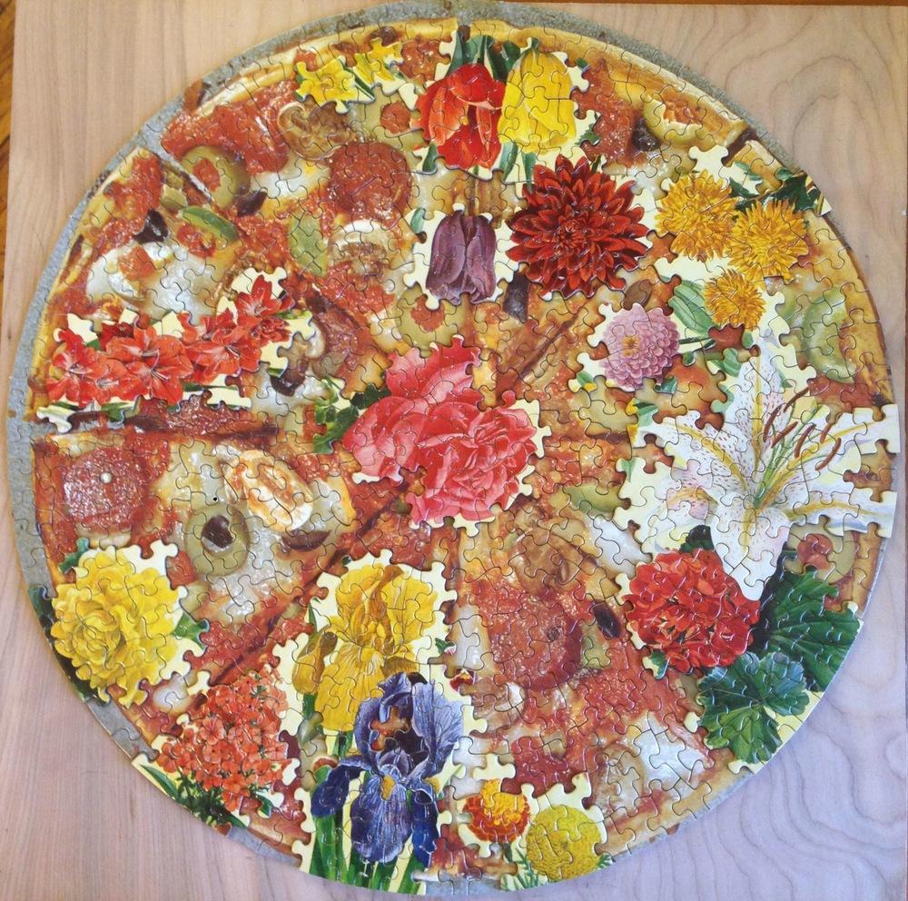 Garden pizza, puzzle collage