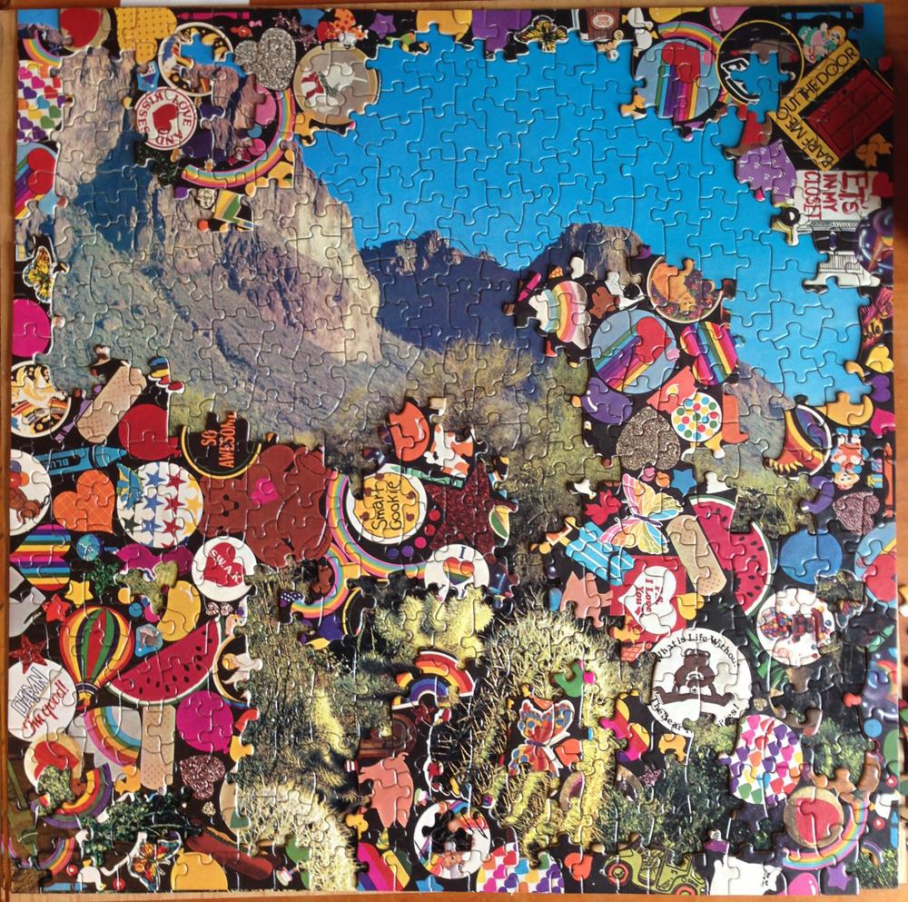 Cactus sticker, puzzle collage, 2015