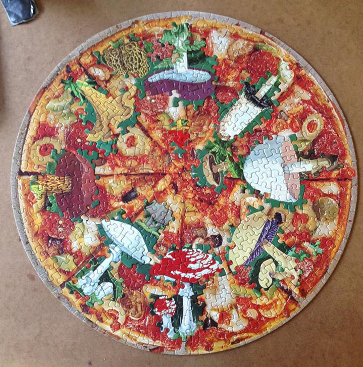 Mushroom Pizza, puzzle collage
