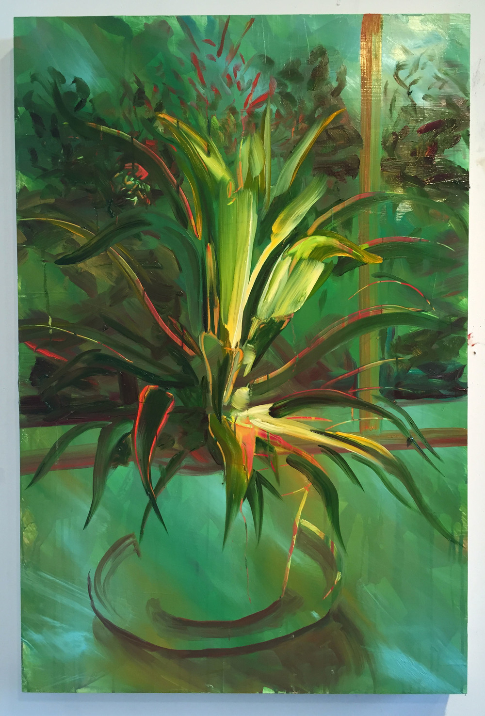 "Spyder plant, 30""x20"", oil on panel, 2015"