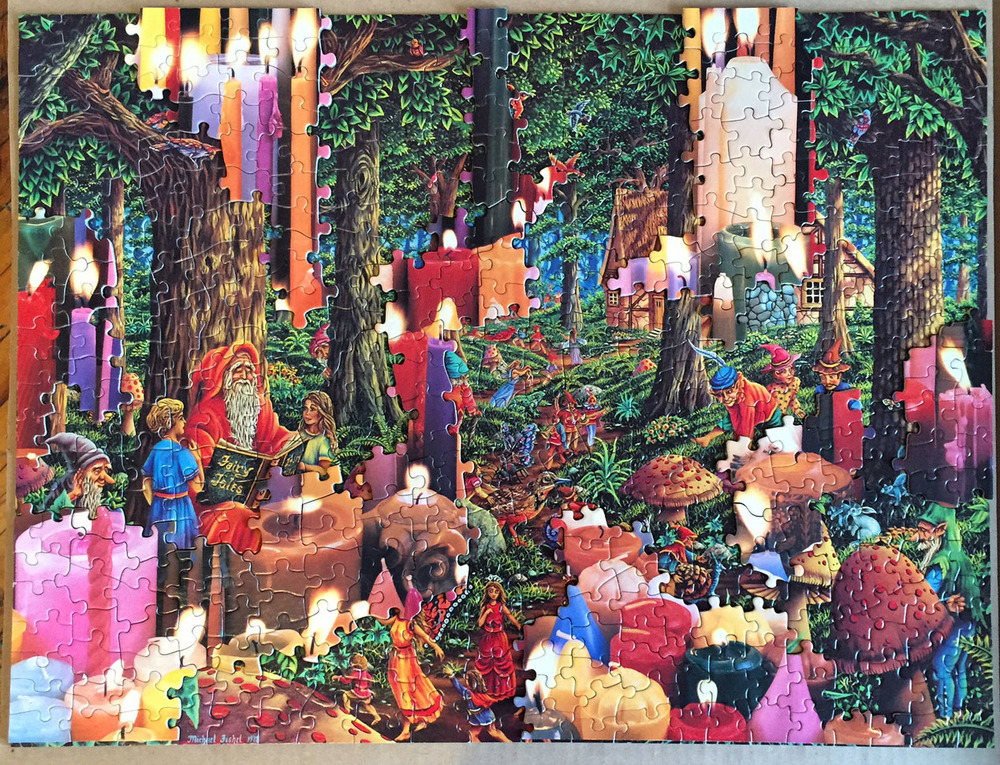 Fanta-C2: Forest Fires, puzzle collage