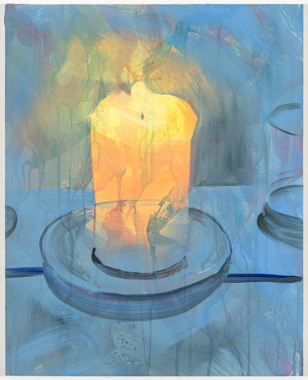 "Candle, 18""x14"", oil on panel, 2016"
