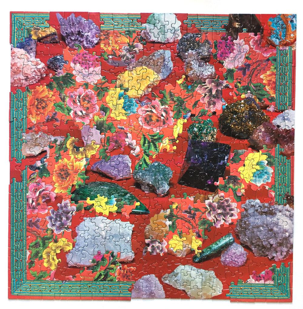 Grandma B-Side, jigsaw puzzle collage, vintage jigsaw puzzles, 2016