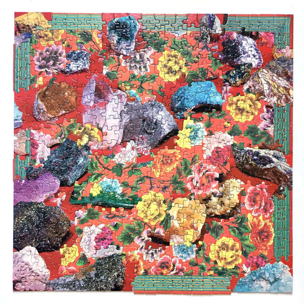 Grandma, jigsaw puzzle collage, vintage jigsaw puzzles, 2016