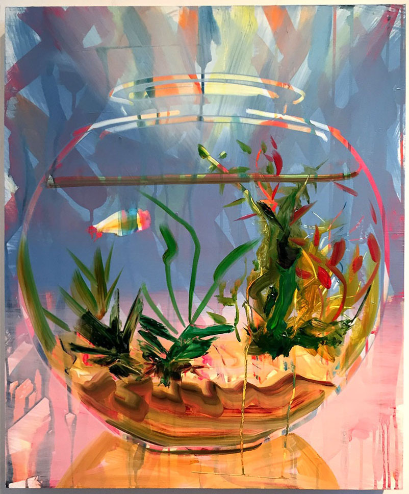 "Fishbowl, 24""x20"", oil on panel, 2016"