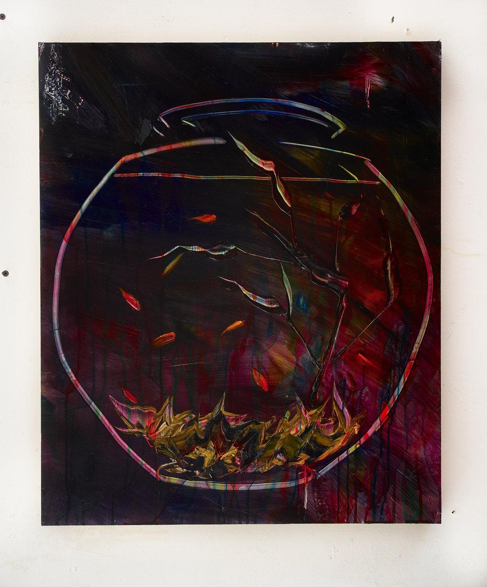 "good dream bad dream, 24""x20"", oil on panel, 2017"