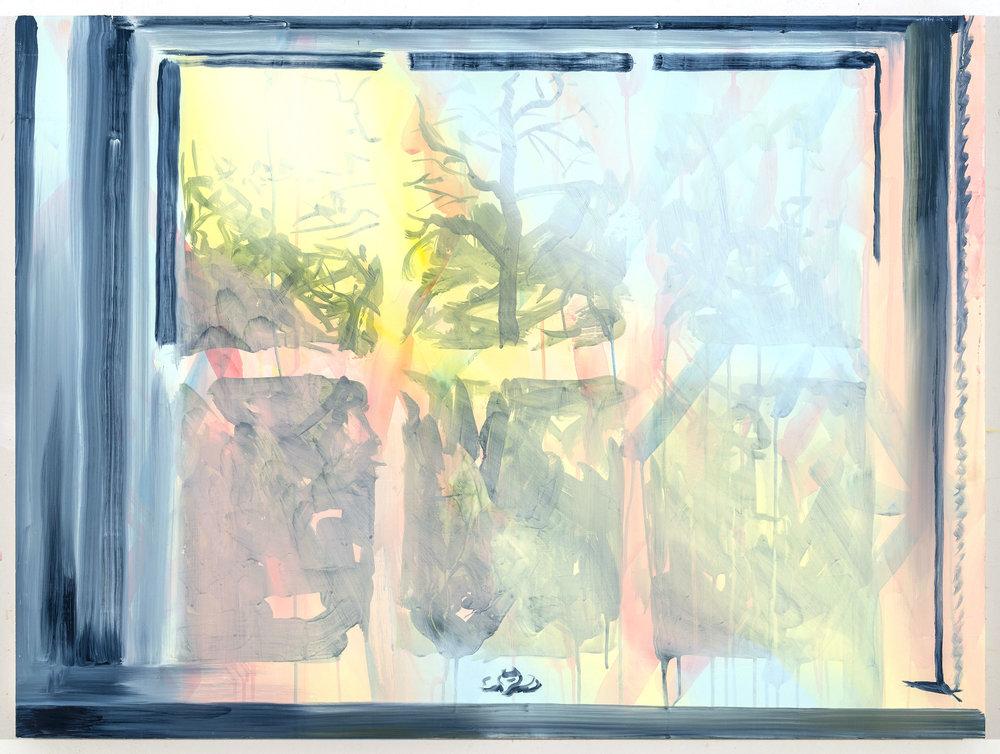 "Latch, 30""x40"", oil on panel, 2018"