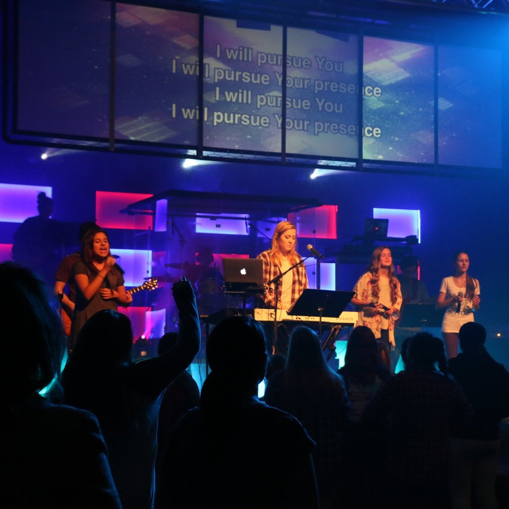 Jr High & High School - Students in grades 6-12 have their Amplified Youth Service on Wednesday Nights. It's a service devoted to teenagers encountering God, making friends, growing together and making a difference.