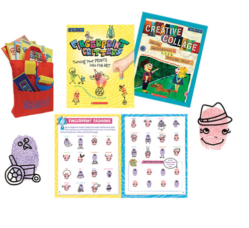 I wrote, art directed and illustrated books in this arts & crafts series by Scholastic.