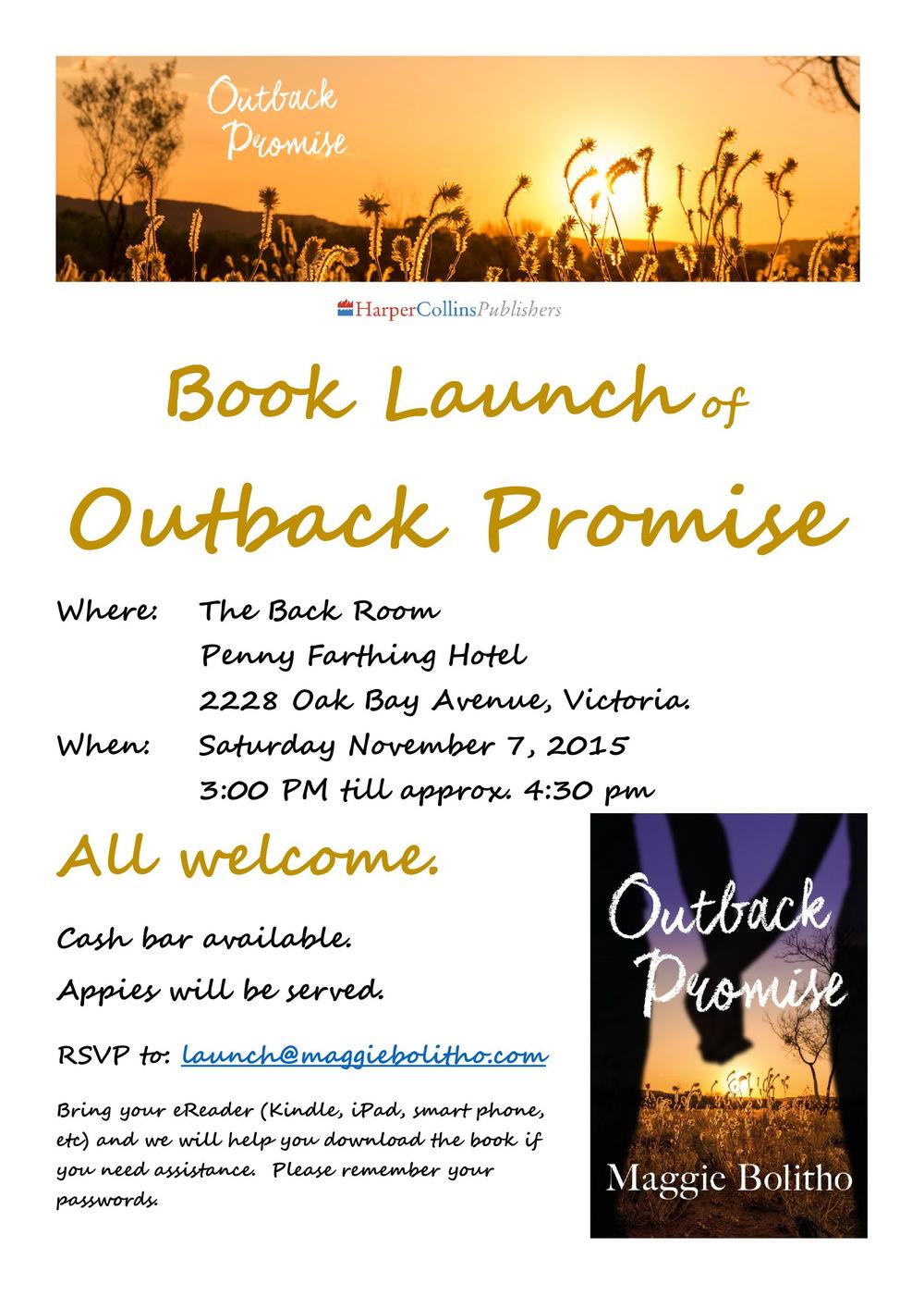 Saturday November 7, 2015 - Book Launch