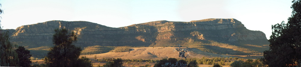 The view from our campsite - Wilpena Pound, Flinders Ranges, South Australia