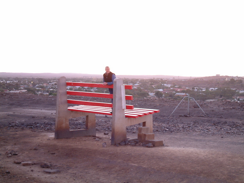 The giant bench at Broken Hill