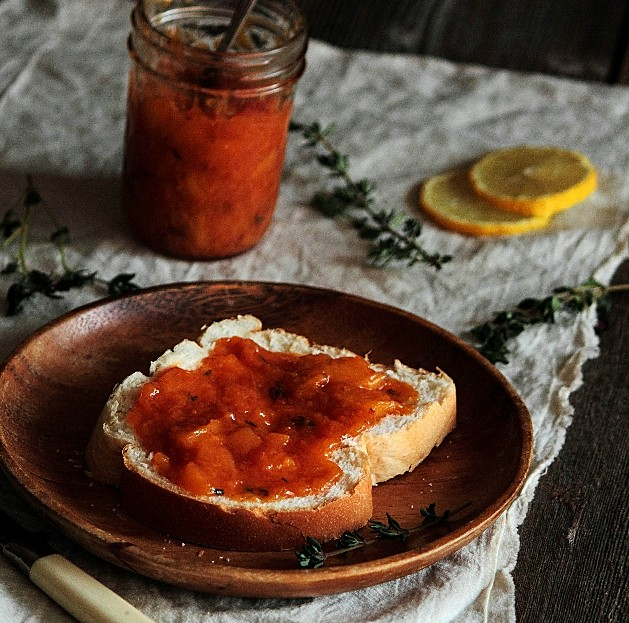 Bourbon Peach & Thyme Jam