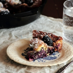 Blackberry Sour Cream Cake