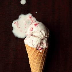 Strawberry Coconut Ice Cream