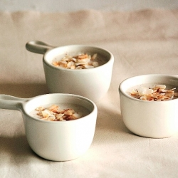 Coconut Nutmeg Pudding