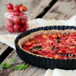 Garden Tomato Basil Tart