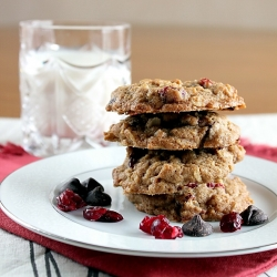 Cherry Chocolate Oat Cookies