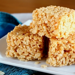 Brown Butter Crispy Rice Bars