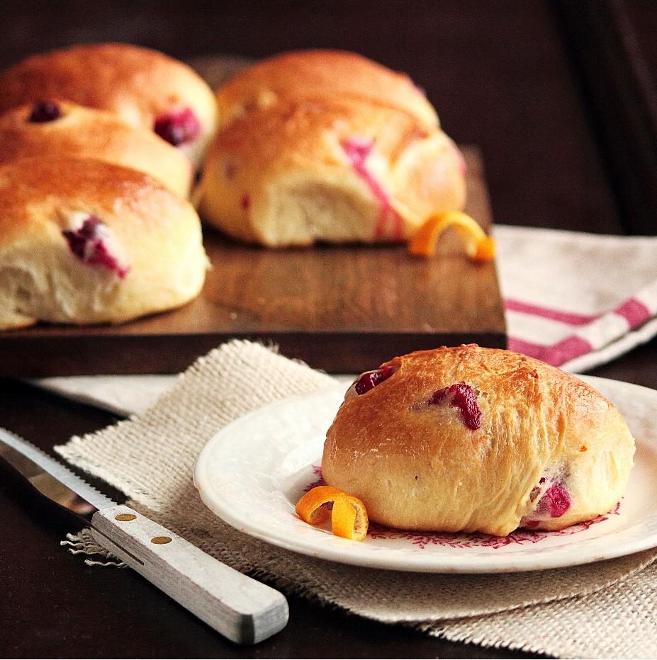 Pastry Affair | Cranberry Orange Brioche Rolls