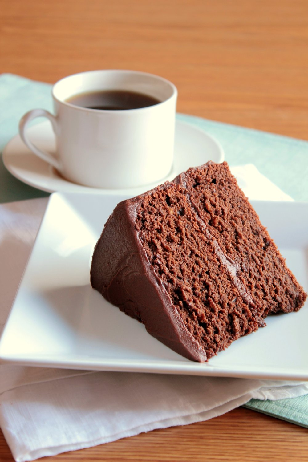 There Is Something To Be Said About A Simple Chocolate Cake No Frills Fuss Mountains Of Too Sweet Buttercream Spoil The Treat Just And