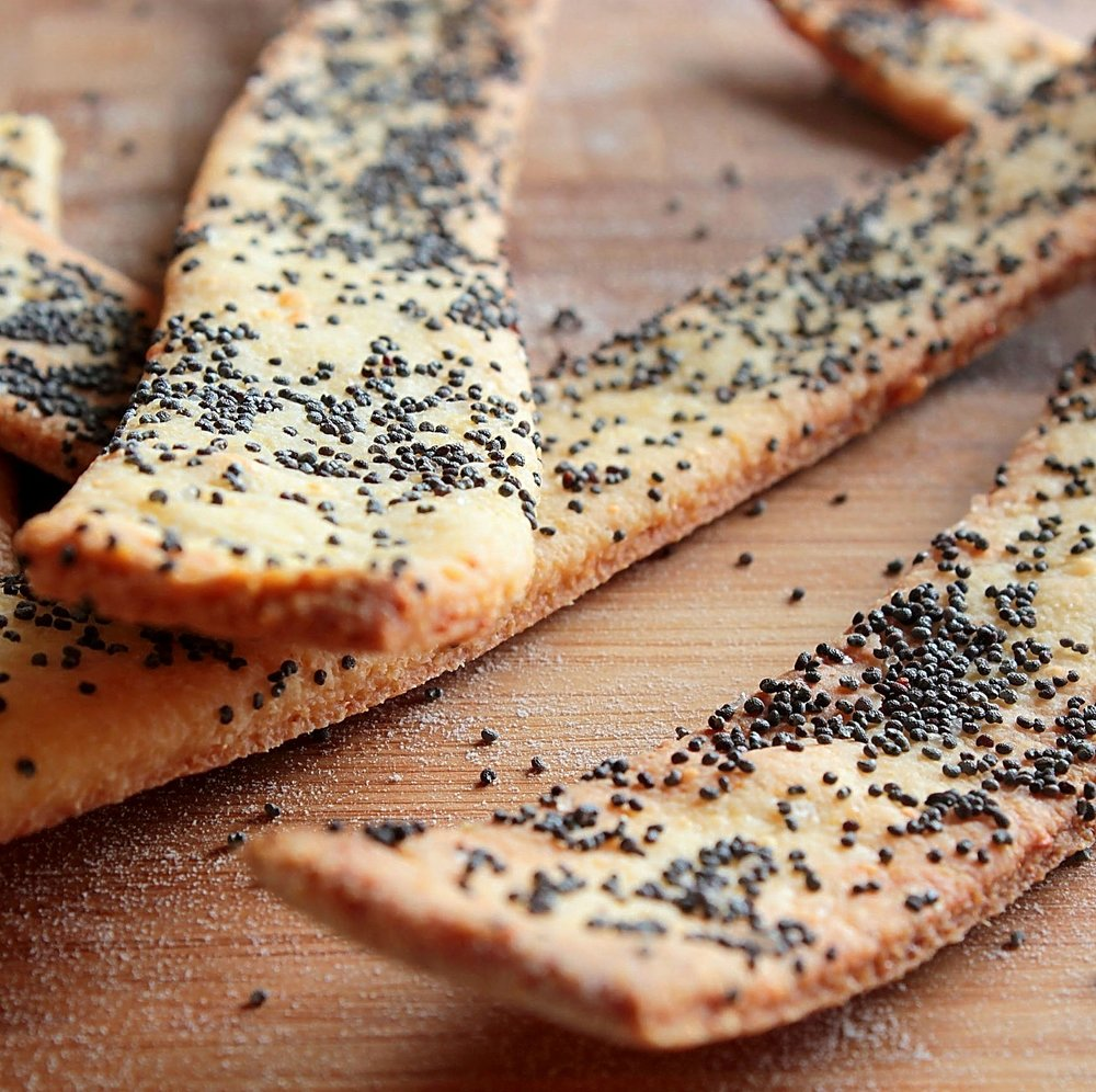 Cornmeal Parmesan Crackers