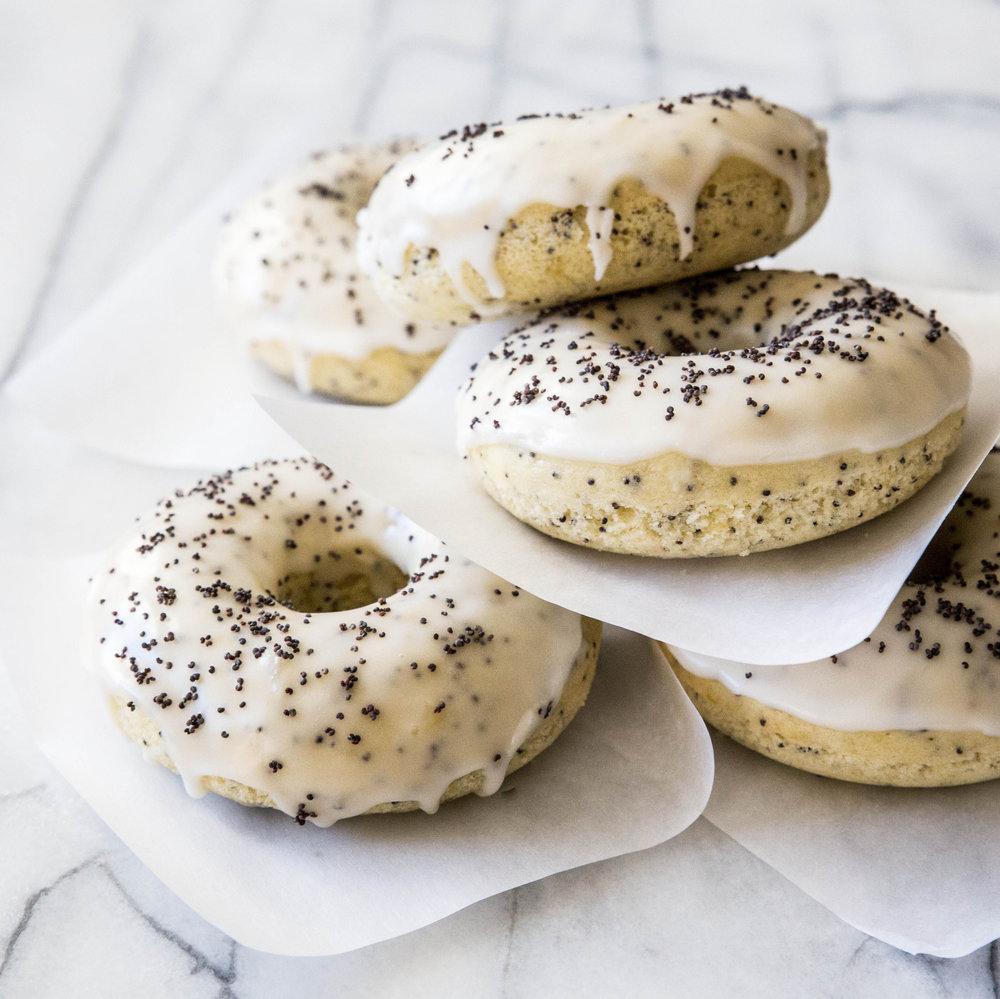 Baked Lemon Poppy Seed Doughnuts