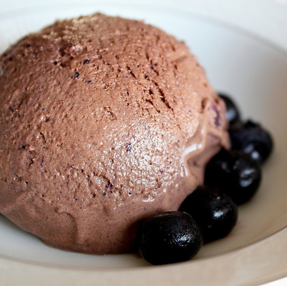 Chocolate Blueberry Ice Cream