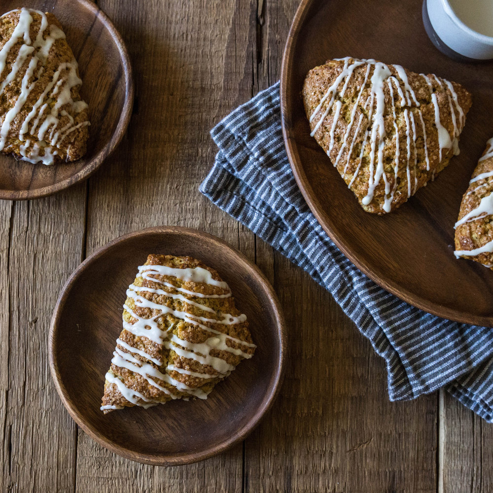 Maple Glazed Pumpkin Scones