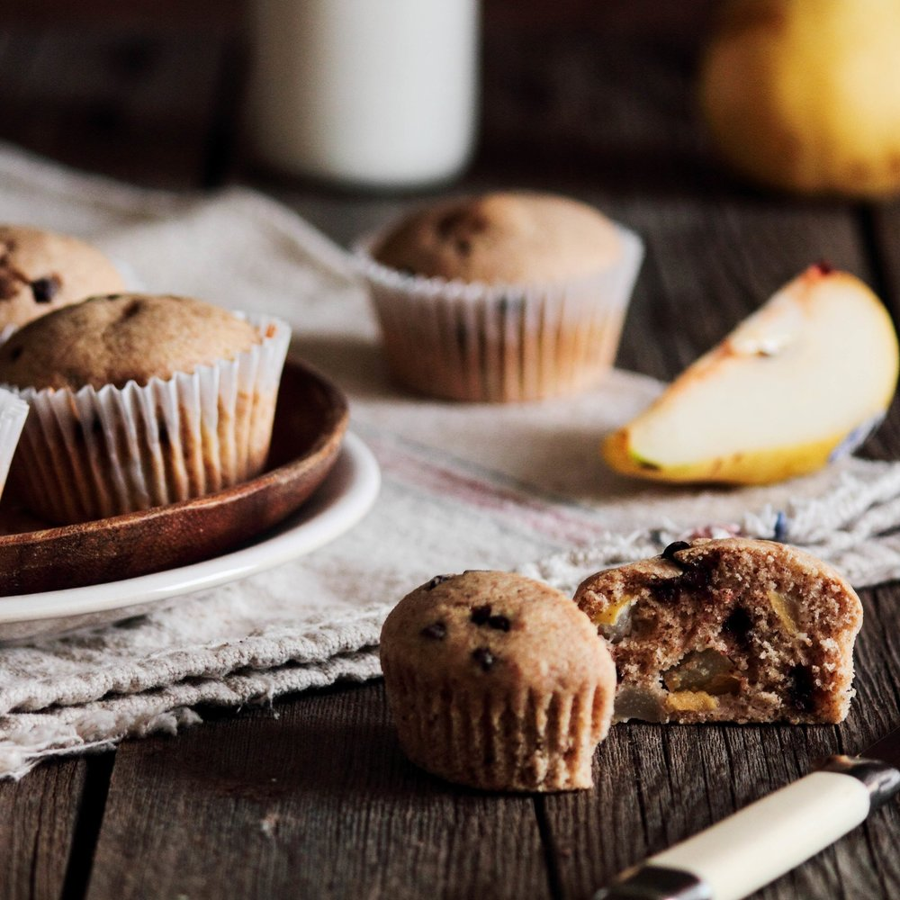 Brown Butter Pear Muffins