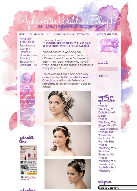 Wedding Accessory Styled Shoot Published