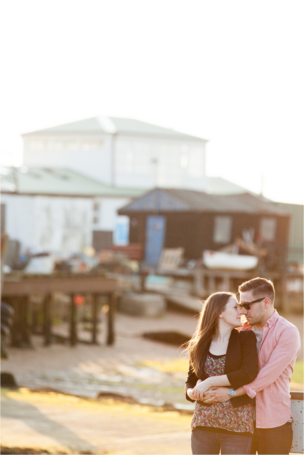 A Sunset Beachside Engagement Shoot in Old Felixstowe, Suffolk / www.rossdeanphotography.com