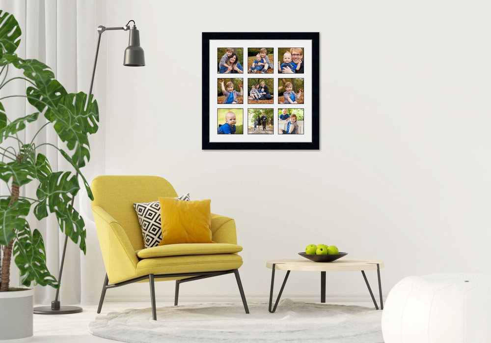 The Storyboard Collections Classic in design, The Storyboard collection boasts beautiful traditionally-framed art work, in a choice of crafted frames which compliment any interior. Choose your favourite layout and tell your family story in a single product.