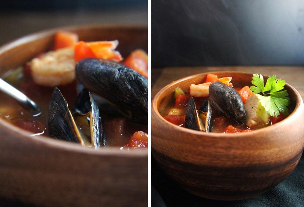 Hearty, Chunky Cioppino, a paleo seafood stew
