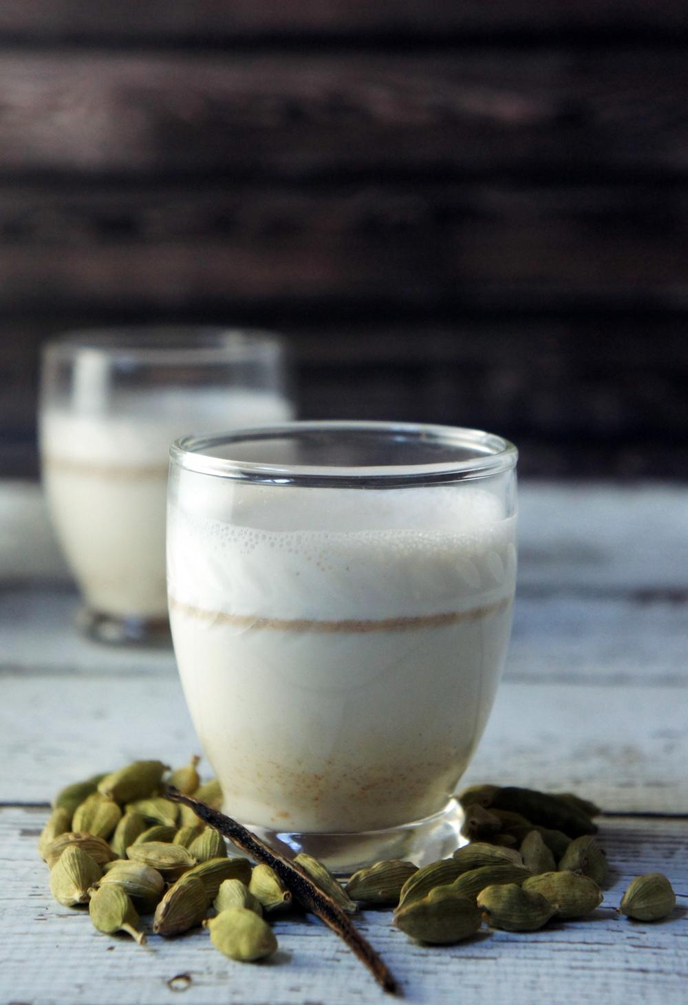 Vanilla Cardamom Almond Milk Shooters